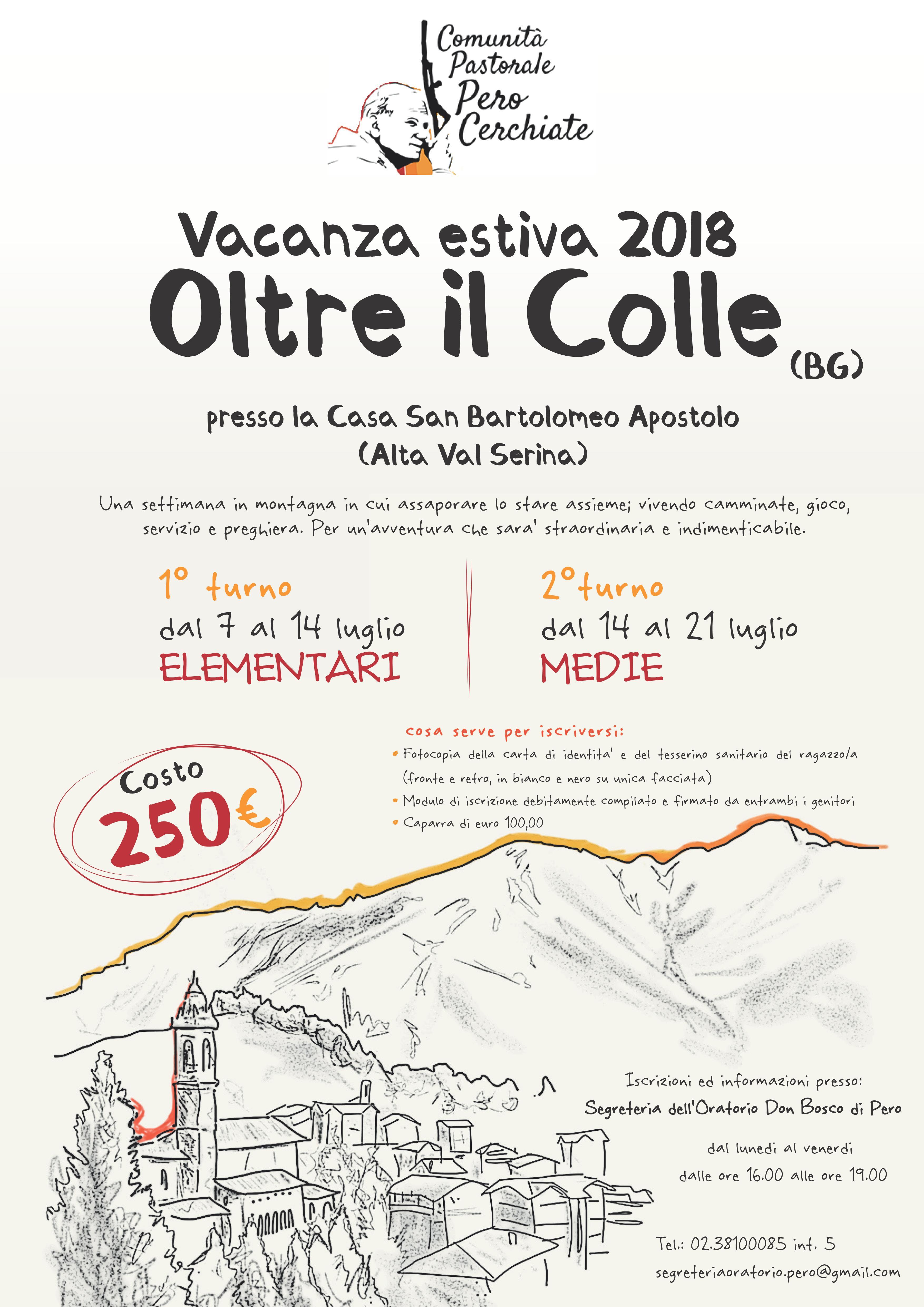 VACANZA ESTIVA A OLTRE IL COLLE (BG)