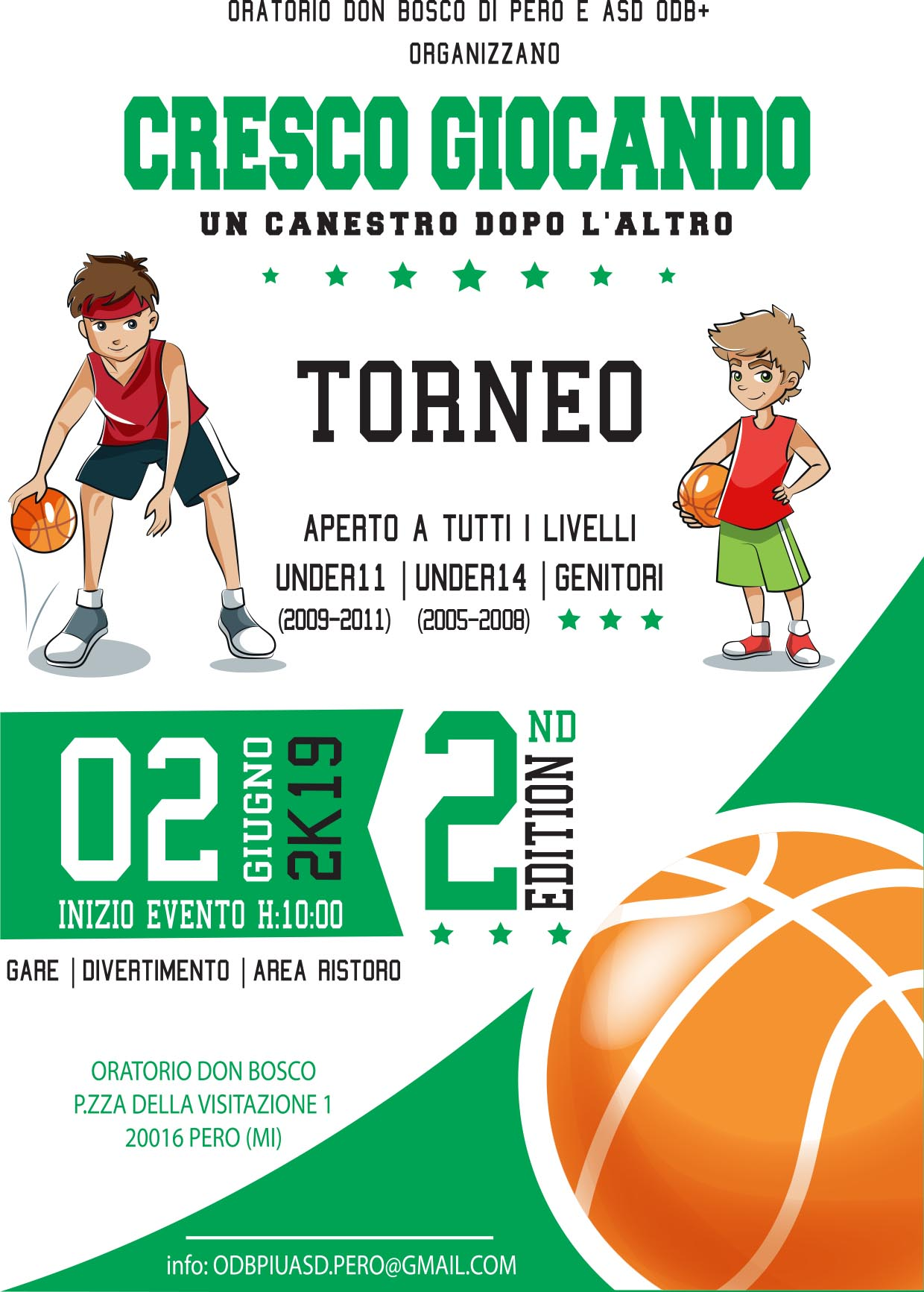 2° Torneo di basket in oratorio