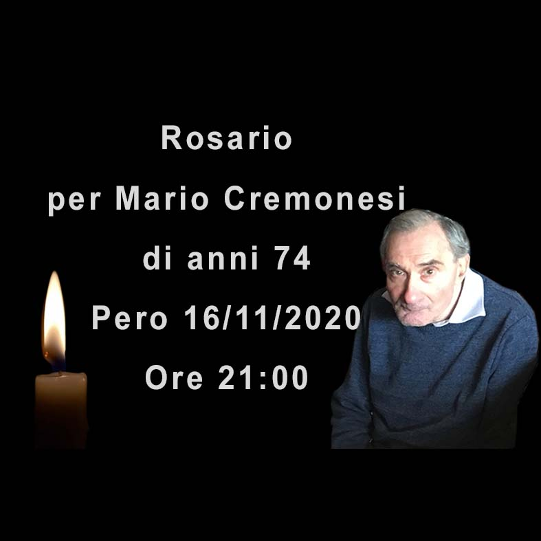 Rosario per Mario Cremonesi