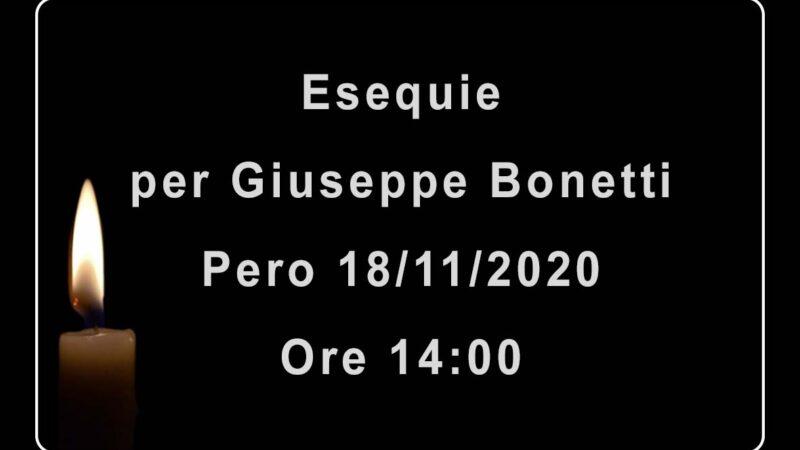 Esequie per Giuseppe Bonetti