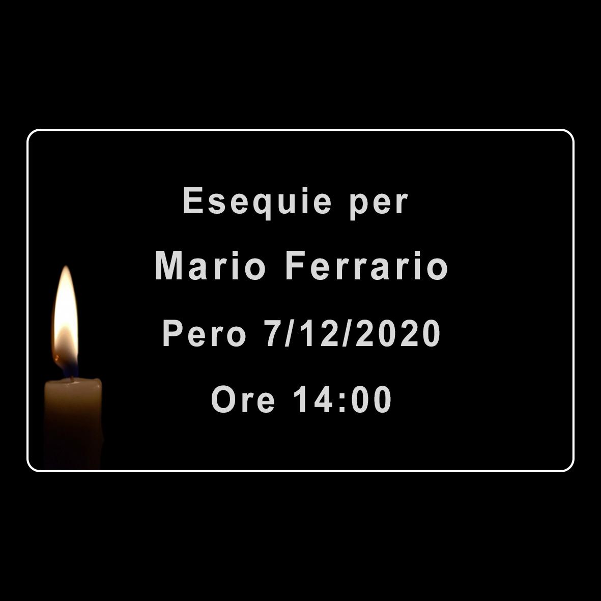Esequie per Mario Ferrario