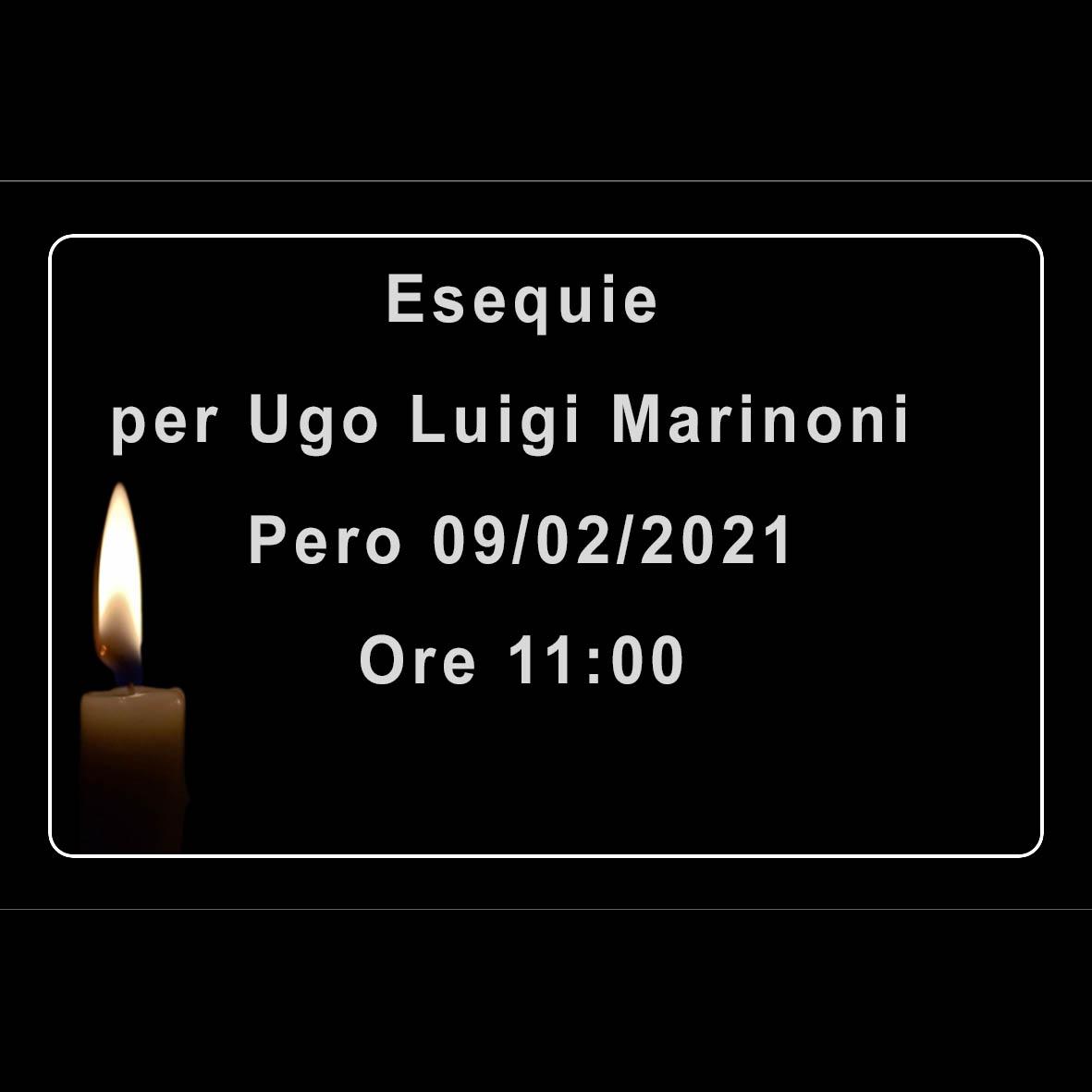 Esequie per Ugo Luigi Marinoni
