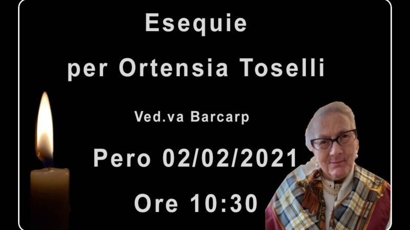 Esequie per Ortensia Toselli
