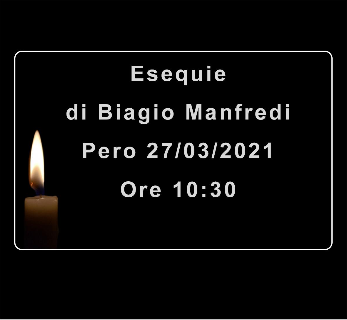 Esequie di  Biagio Manfredi