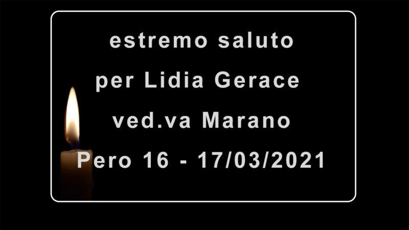 Rosario ed Esequie per Lidia Gerace Ved.va Marano