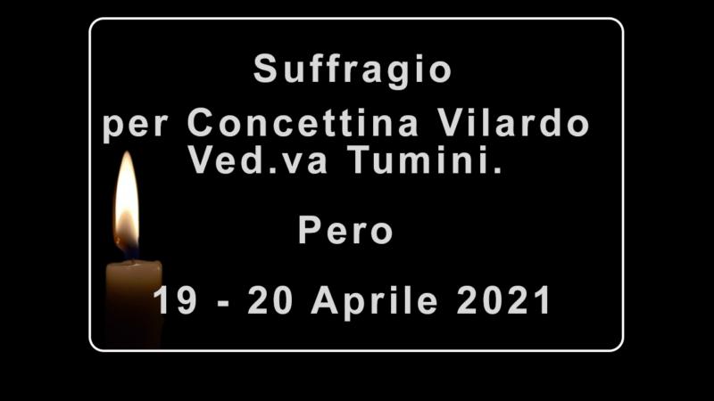Rosario ed Esequie per Concettina Vilardo Ved.va Tumini
