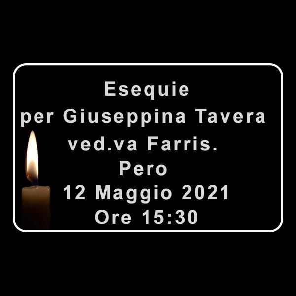 Esequie per Giuseppina Tavera Ved.va Farris