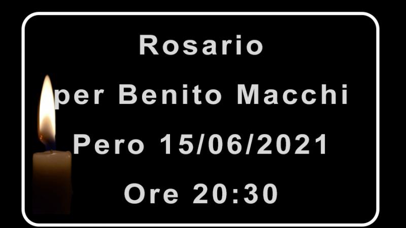 Rosario per Benito Macchi
